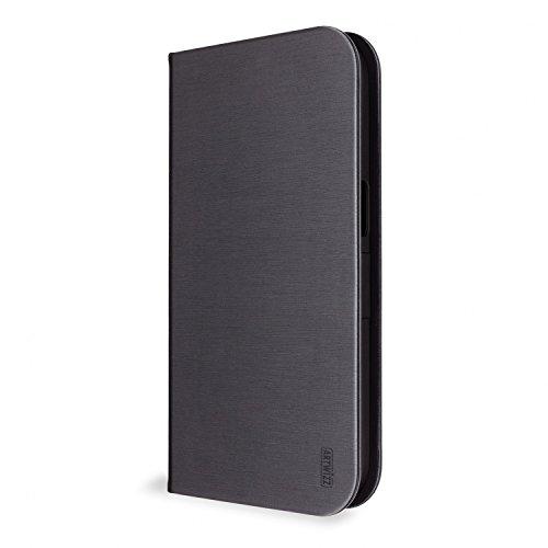 Artwizz FolioJacket Handyhülle designed für [Galaxy S7] - Schutzhülle im modernen Design mit Standfunktion, Magnetverschluss - Schwarz