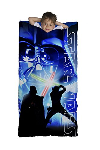Jay Franco Star Wars Classic Slumberbag/Sleeping Bag, One Size, Darth Saber Blue