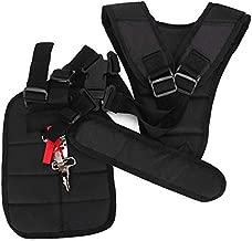 Fdit Trimmer Harness Strap Adjustable Padded Strap Comfort Strap Double Shoulder Garden Brush Cutter Lawn Mower Belt