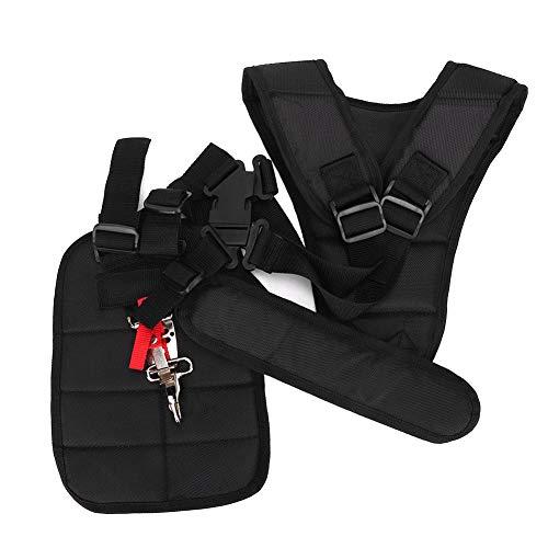 Fdit Trimmer Harness Strap Correa acolchada ajustable correa Comfort doble hombro desbrozadora de jardín cinturón para cortacésped