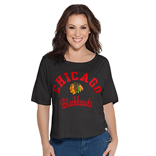 Touch by Alyssa Milano Touch Second Base Wende-T-Shirt, Damen, Touch Second Base Reversible Tee, schwarz, Medium