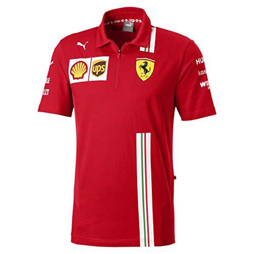 PUMA Ferrari Team Herren Polo Rosso Corsa M