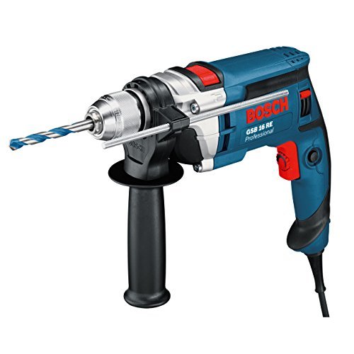Bosch Professional Perceuse A percussion Filaire GSB 16 RE (750 W, 230 V, Ø du collet 43mn, Coffret)