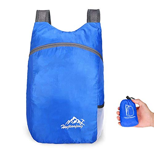 Lightweight Packable Backpack 20L Foldable Ultralight Outdoor Folding Handy Travel Daypack Bag Nano Daypack for Men Women,Blue Color