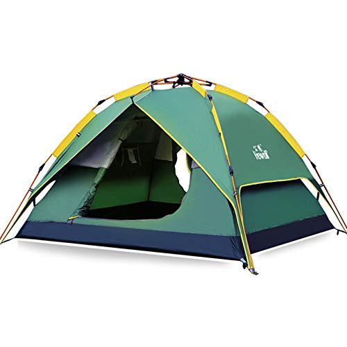 Hewolf 3 Person Camping Tent Instant Setup - Waterproof Lightweight Pop up Dome Tent Easy up Fast Pitch Tent Great for Beach