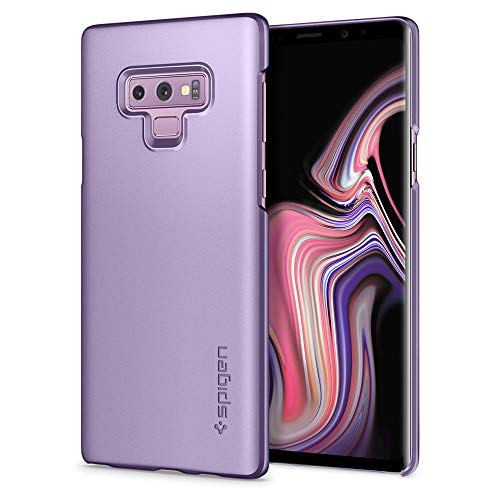 Spigen [Thin Fit] Galaxy Note 9 Case with Light but Durable Slim Profile with QNMP Metal Plate Slot for Samsung Galaxy Note 9 (2018) - Lavender