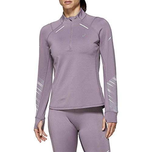 ASICS Damen Laufshirt Lite-Show 2 Winter LS 1/2 Zip Top 2012A433 Lavender Grey M