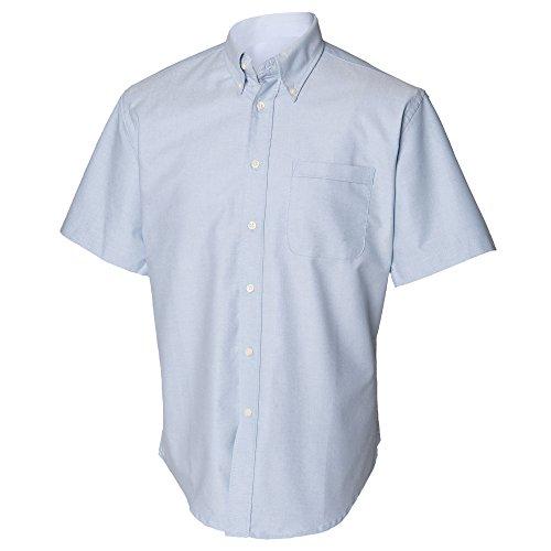 Henbury - Camisa Clásico manga corta Modelo Oxford Work hombre caballero - Trabajo/Fiesta/Boda