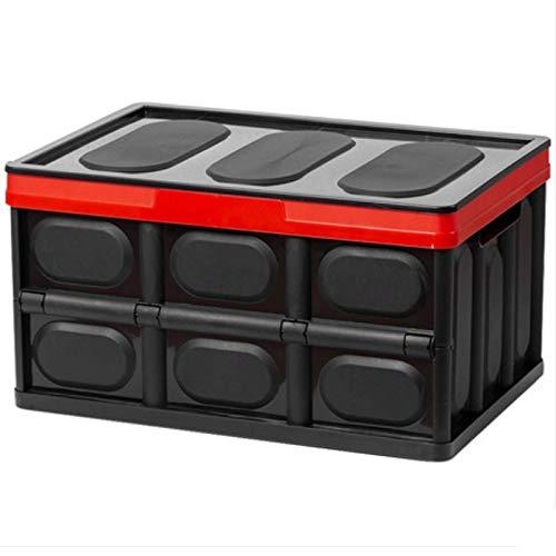 TTOOY Cajas de almacenaje de Libros Plegable, baúl de plástico para Dormitorio de Estudiantes de Aula para Libros 42X28.2X23Cm