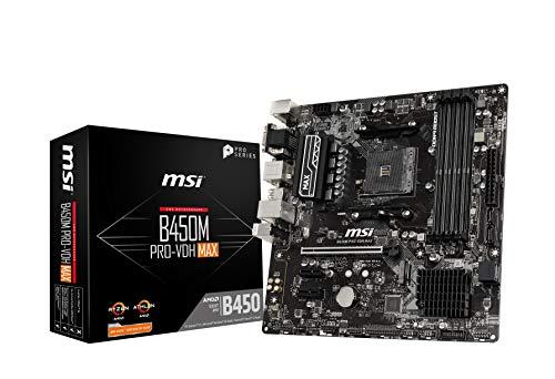 MSI B450M PRO-VDH MAX M-ATX マザーボード MB4825