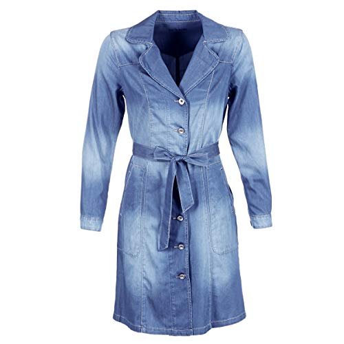 CREAM Denim Trenchcoat Abrigos Femmes Denim - EU 44 (DE 42) -...