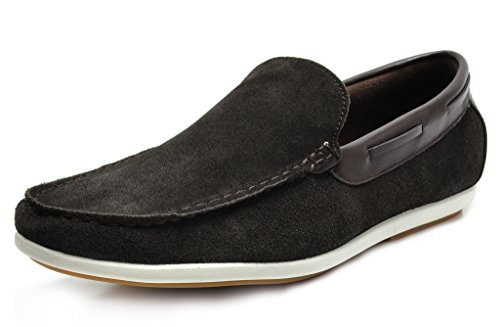 Bruno Marc Men's Kilin-01 Brown Driving Loafers Moccasins Shoes – 7.5 M US