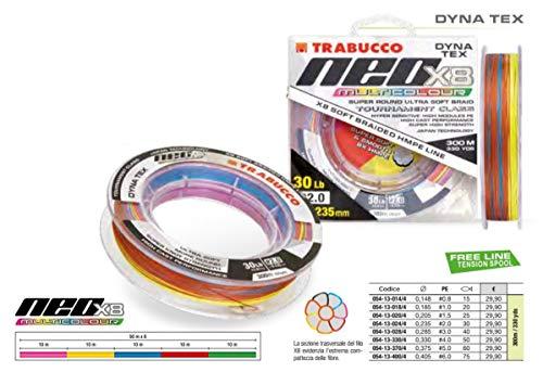 Trabucco Trecciato Neo X8 Multicolor Diametro 0.205 mm Bobina da 300 Metri