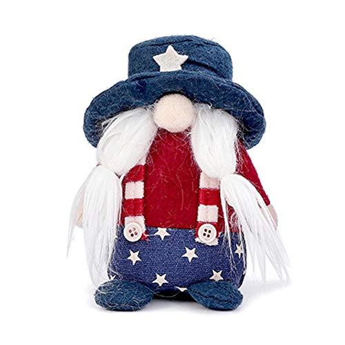 Roexboz Gnomo decorativo de Navidad, gnomo de Papá Noel, figuras suecas de peluche para el día de San Valentín, muñeca para decoración del hogar