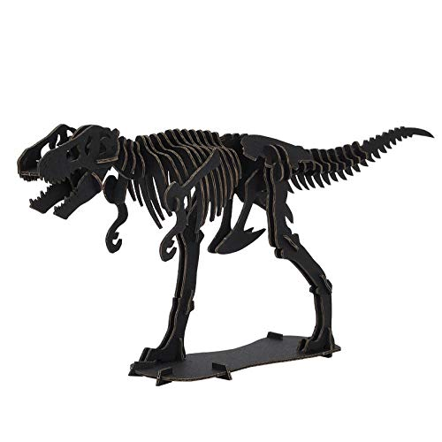 DINOSAUR恐竜骨格工作キットティラノサウルス・ブラックダンボールでつくる恐竜骨格のりもはさみも使わずに組み立てられるペーパークラフトCardboard craft kit, Dinosaur