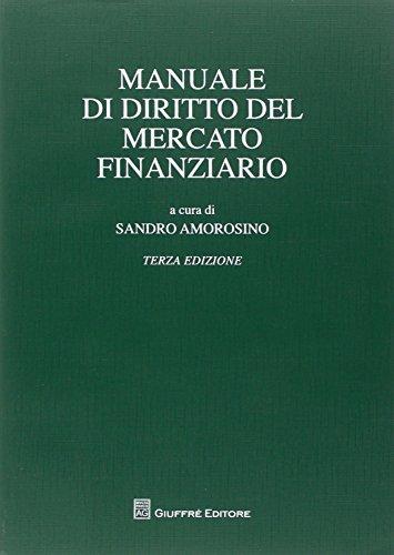 Manuale di diritto del mercato finanziario