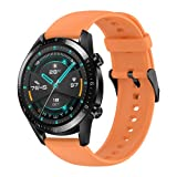 Cinturino per Huawei Watch GT 2 46mm, Hatolove 22mm Braccialetto di Ricambio in Silicone Sportivo Cinturino per Huawei GT 2e/GT 2/GT/GT2 PRO/Honor Watch Magic/Galaxy Watch 46mm/Watch 3 45mm/Gear S3