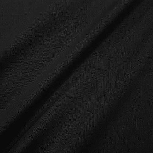 Meterware Stoff Baumwollstoff schwarz Fahnentuch 100% Baumwolle Neuware
