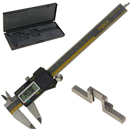 iGaging ABSOLUTE ORIGIN 0-6' Digital Electronic Caliper Inch/Metric/Fraction IP54 Protection Bonus:...