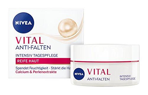 NIVEA Vital Anti-Falten Intensiv Aufbauende Tagespflege im 1er Pack (1 x 50 ml), Tagescreme mit Perlenextrakten und Calcium, Anti Aging Feuchtigkeitscreme für gestärkte Haut