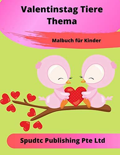 Valentinstag Tiere Thema Malbuch Für Kinder