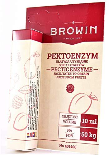 Pektinolytische Enzyme BROWIN flüssig - 10ml für 50kg Früchte oder Most, Maische, Wein, Obstsäfte