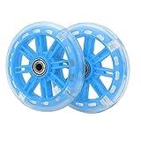 VGEBY Ruedas de Entrenamiento de Bicicleta para niños, Ruedas estabilizadoras de Entrenamiento de Goma duraderas para la mayoría de Bicicletas de una Velocidad de 15,75 a 26,25 Pulgadas(Azul)