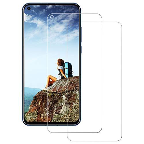 Panzerglas Schutzfolie für Huawei Honor View 20 2 Stück, 9H Härte, Anti-Kratzer, Anti-Öl, Anti-Bläschen, Anti-Fingerprint Displayschutzfolie Panzerglasfolie