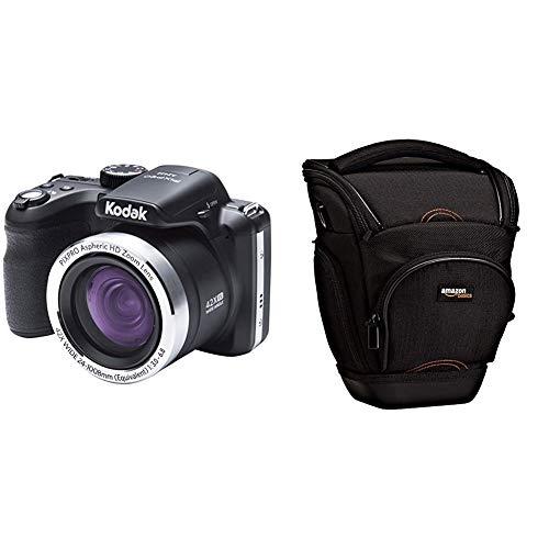 """Kodak Astro Zoom AZ422 Cámara Digital, 20MP, 1/2.3"""" CCD, 5152 x 3864 Pixeles, Negro + AmazonBasics - Funda para cámara de Fotos réflex, Color Negro"""