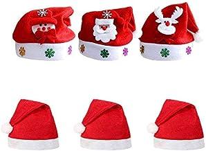 YDH Kerstmuts baby kerstmutsen volwassenen kinderen kerstman kerstmuts kerstfeest 6 stuks