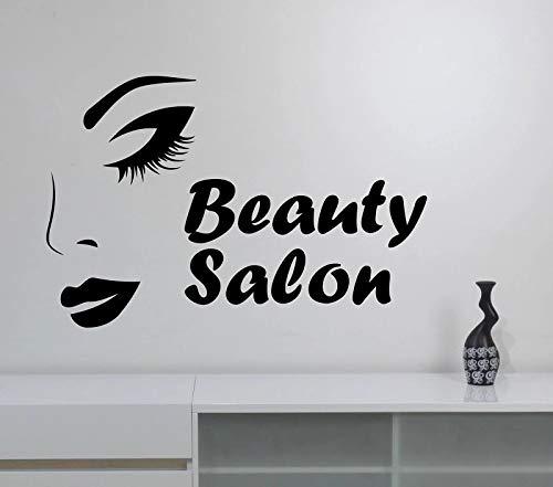Decoración de la ventana del espejo del art déco de las señoras del maquillaje del vinilo