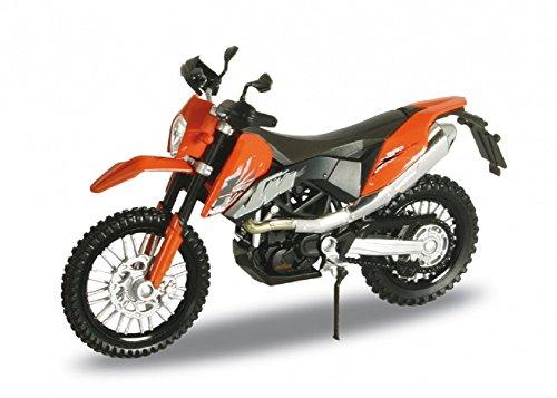 Welly DieCast Modell Motorrad KTM 690 Enduro Orange Metall Motorradmodell 1:18