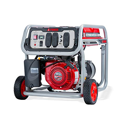A-iPower SUA4500 4500 Watt Portable Generator Small Gas Powered For Jobsite, RV, and Home Backup Emergency