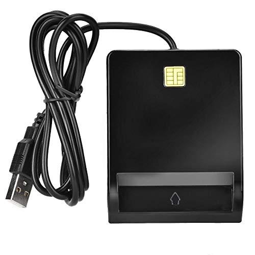 Sanpyl Lector de Tarjetas, Lector de Tarjetas Inteligentes para ID CAC DNIE ATM IC SIM Bank Card Cloner Connector para Windows, Soporte...