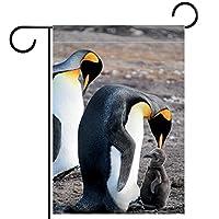 ガーデンサイン庭の装飾屋外バナー垂直旗ペンギン オールシーズンダブルレイヤー