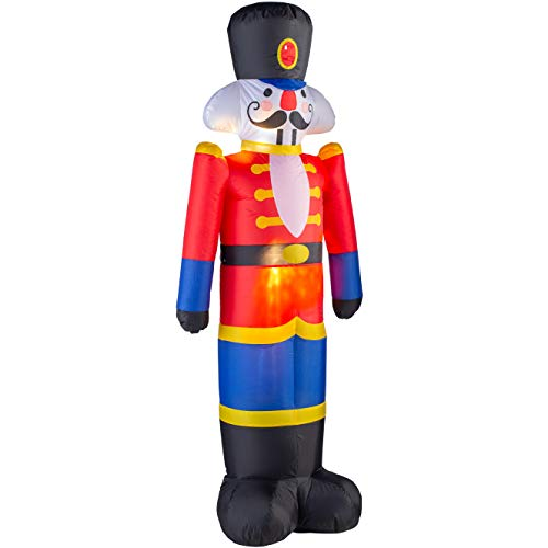WeRChristmas Inflatable Christmas Nutcracker Decoration, Red, 3.5 ft