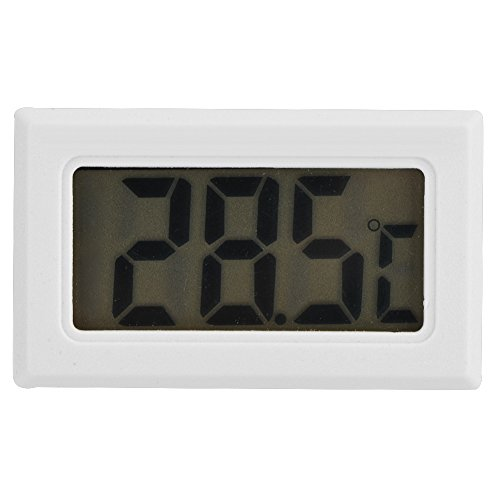 Termometro digitale, termometro digitale per congelatore e frigorifero con schermo LCD, ampia gamma di misurazione, sensore lungo 1,5 m, batterie LR44 incluse