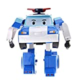 Poli Robocar Poli Transforming Robot, 4' Tramsformable Action Toy Figure