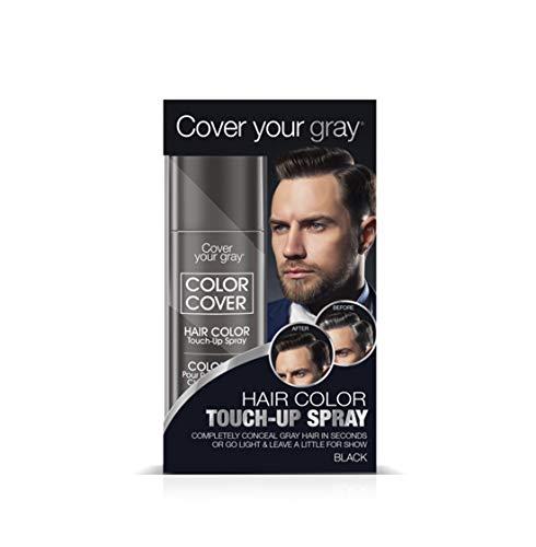 Cover Your Gray Mens Color Cover Touch-up Spray - Black