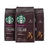 Starbucks Dark Italian Roast Ground Coffee, 100% Arabica, Chocolate and Marshmallow, 12 Oz, 3 Count