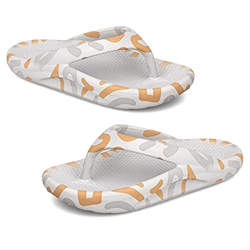 S-Chihir Sandalias de Soporte de Flip flujos de Flip Flop de Mujer, resbalón de cojín Suave en Diapositivas de Tangas Casuales (Color : Gray, Shoe Size : 8.5 Men)