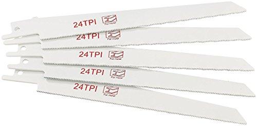 Preisvergleich Produktbild AGT Zubehör zu Accu-Säbelsäge: Professional Sägeblatt für Metall zur Säbelsäge AW-18.sl,  5 Stück (Akkuwerkzeug Säbel-Säge)