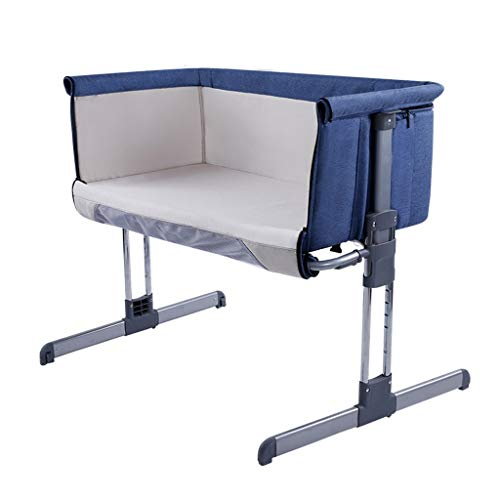 Best Review Of 0-12 Months Baby Bedside Side Sleeping Crib 93 X 58 X 78cm Foldable Travel Cradle Was...