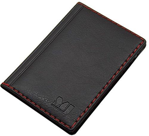 Elegante Tarjetero para Tarjeta de crédito y Tarjeta de Visita diseños (Diseño 4 / Negro)