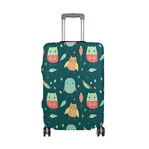 Funda para equipaje de viaje, con diseño de búhos de dibujos animados, elástica, lavable, para equipaje de 18 a 32 pulgadas