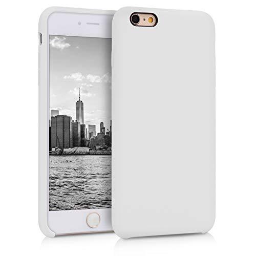 kwmobile Hülle kompatibel mit Apple iPhone 6 Plus / 6S Plus - Handyhülle gummiert - Handy Case in Weiß