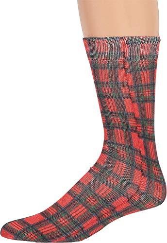 Dr. Martens Tartan Clash calzini rosso/multi tartan misto cotone MD (US scarpe da uomo 7-9, scarpe da donna 40-42