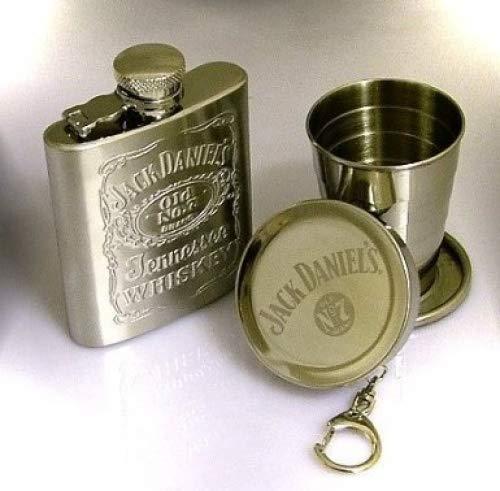 Hip Flask Jack Daniel con la tazza pieghevole