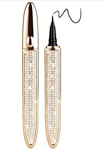 XINGMU Eye Lash Glue Pen Mit Eyeliner 2in1, Magic Lash Glue, Nicht Magnetisch, Langlebig Wasserdicht, Kein Verschmieren Und Bleichen FüR AnfäNger Beim Schminken,Gold