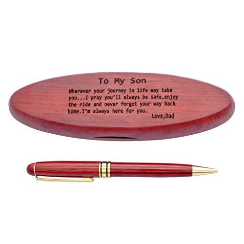 Un regalo ideal para cualquier ocasión: día de San Valentín, cumpleaños, aniversario, boda, Navidad, graduación, o un regalo para dar las gracias a sus novios o damas de honor. El bolígrafo de madera es el regalo ideal para tus seres queridos. Este b...